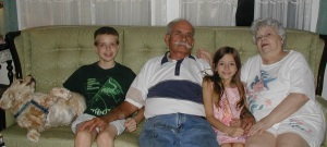 Nick, Granddaddy, Katie, and Granny